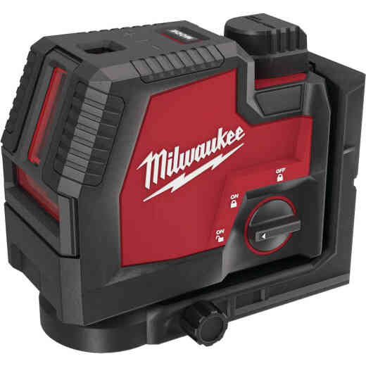Milwaukee USB Rechargeable Green Cross Line & Plumb Points Laser