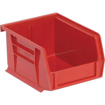 Quantum Storage Small Red Stackable Parts Bin (6-Pack)