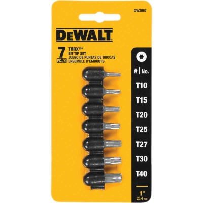 DeWalt 7-Piece Torx Insert Screwdriver Bit Set