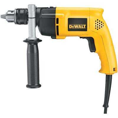 DeWalt 1/2 In. Keyed 8.5-Amp VSR Single-Speed Electric Hammer Drill
