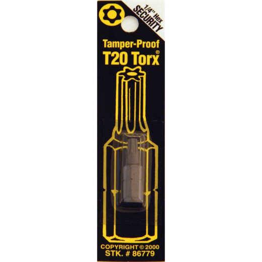 Best Way Tools T20 Tamperproof Torx Security 1 In. 1/4 In. Hex Screwdriver Bit