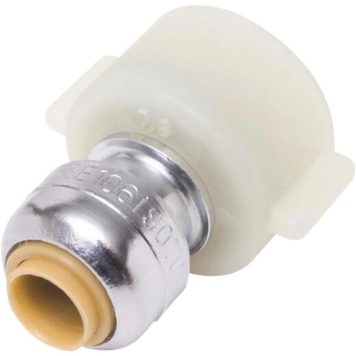 SharkBite 1/4 In. x 1/2 In. Push-to-Connect Brass Faucet Adapter