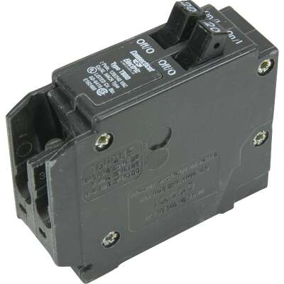 Connecticut Electric 20A/20A Twin Single-Pole Standard Trip Interchangeable Packaged Circuit Breaker