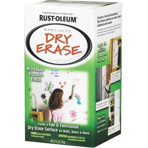 Rust-Oleum Quart White Satin Dry Erase Paint
