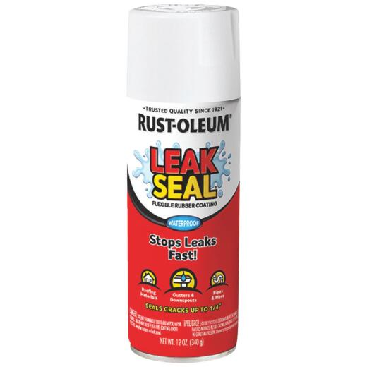Rust-Oleum LeakSeal 12 Oz. Flexible Rubber Coating, White