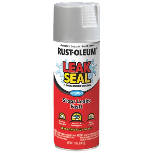 Rust-Oleum LeakSeal 12 Oz. Flexible Rubber Coating, Silver