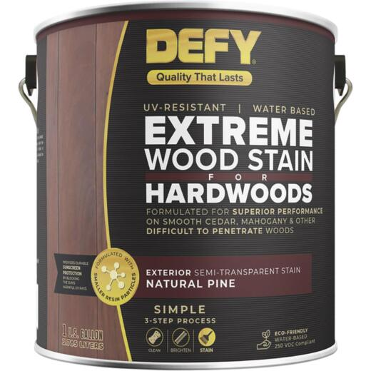 DEFY Semi-Transparent Deck Stain For Hardwoods, Natural Pine, 1 Gal.