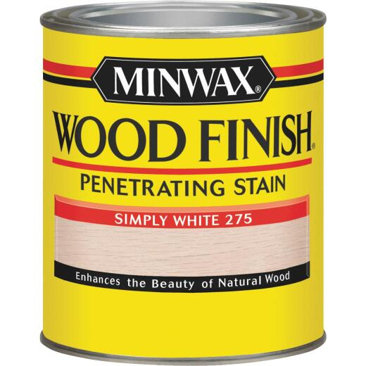 Minwax Wood Finish Penetrating Stain, Simply White, 1 Qt.