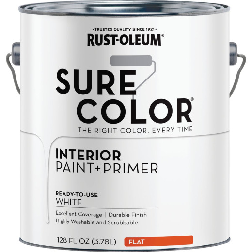 Rust-Oleum Simply Home Flat Pure White Interior Wall Paint, Gallon