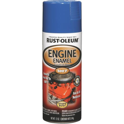 Rust-Oleum Stops Rust 12 Oz. Gloss Ford Blue Engine Enamel Spray Paint