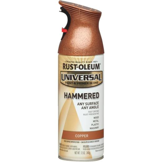 Rust-Oleum Universal 12 Oz. Hammered Gloss All-Surface Spray Paint, Copper