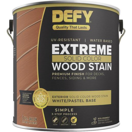 Defy Extreme 1 Gal. White/Pastel Solid Color Wood Stain