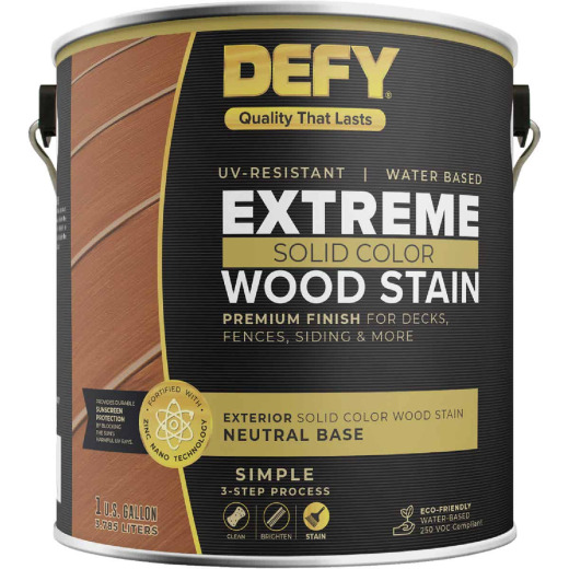 Defy Extreme Solid Color Wood Stain, Neutral, 1 Gal.