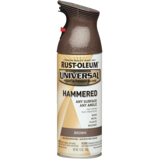 Rust-Oleum Universal 12 Oz. Hammered Gloss All-Surface Spray Paint, Brown