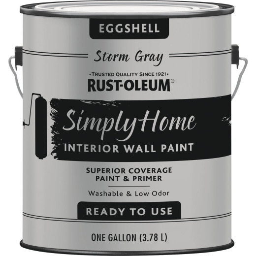 Rust-Oleum Simply Home Eggshell Storm Gray Interior Wall Paint, Gallon