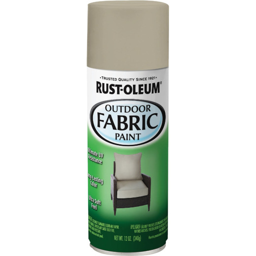 Rust-Oleum 12 Oz. Flat/Matte Outdoor Fabric Spray Paint, Medium Gray